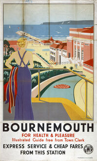 'Bournemouth', GWR poster, 1923-1947.