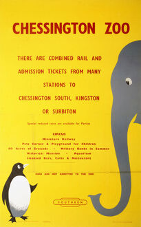 BR(SR) poster. 'Chessington Zoo - There are