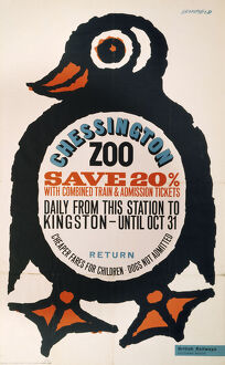 'Chessington Zoo', BR poster, 1964.