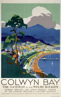 'Colwyn Bay', LMS poster, c 1930s.