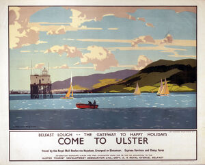 'Come to Ulster', LMS poster, c 1930s