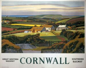 'Cornwall', GWR/SR poster, 1936.