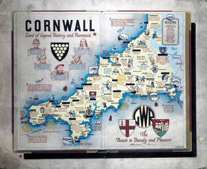 'Cornwall - Land of Legend, History and Romance', GWR poster, 1933