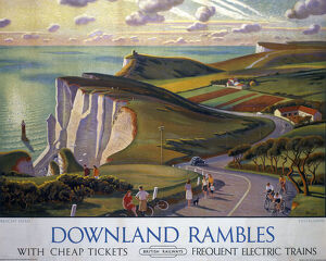 downland rambles br poster 1950s