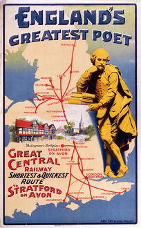 'England's Greatest Poet', GCR poster, 1900-1922.