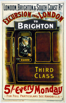 'Excursion from London to Brighton', LBSCR poster, 1901.