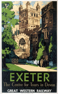 'Exeter', GWR poster, 1923-1947.