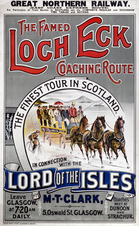 The Famed Loch Eck Coaching Route', GNR poster, 1900-1923.
