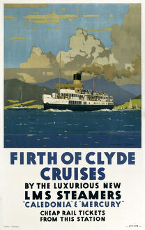 Firth of Clyde Cruises', LMS poster, 1923-1947.