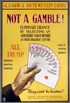 Not a Gamble!', GSWR poster, 1910.