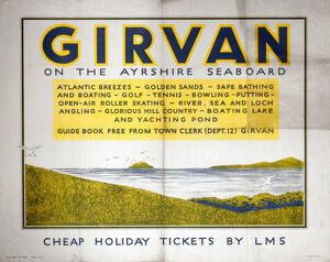 'Girvan on the Ayrshire Seaboard', LMS poster, 1940.