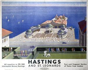 'Hastings and St Leonards', BR (SR) poster, 1959.
