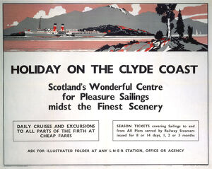 'Holiday on the Clyde Coast', LNER poster, 1935.