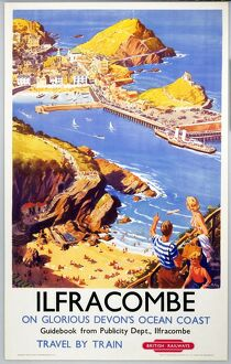 'Ilfracombe', BR poster, 1950s.