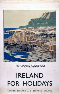 'Ireland for Holidays - The Giant's Causeway', LMS poster, 1923-1947