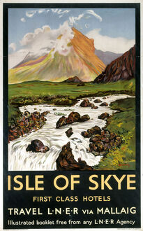 'Isle of Skye - First Class Hotels', LNER poster, 1923-1947