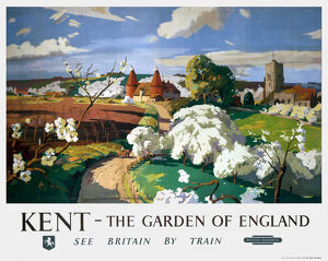 'Kent - The Garden of England', BR poster, 1955