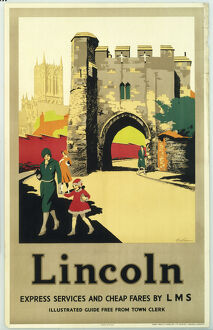 'Lincoln', LMS poster, c 1930s.