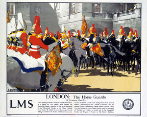 'London - The Horse Guards', LMS poster, 1923-1947