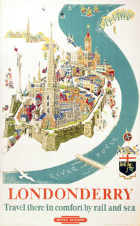 'Londonderry', BR poster, 1953.