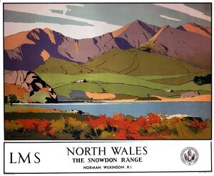 'North Wales - The Snowdon Range', LMS poster, 1923-1947