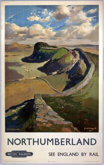 'Northumberland - See England by Rail', c 1955.