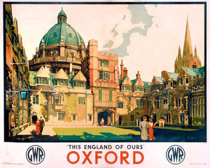 'Oxford', GWR poster, 1923-1947.
