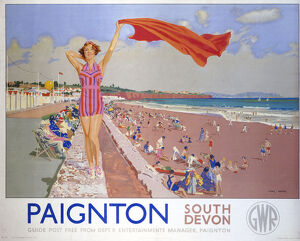 'Paignton', GWR poster, 1937.