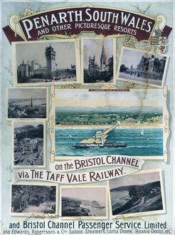 'Penarth, South Wales', TVR poster, 1900-1922.