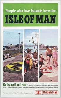 'People who love islands love the Isle of Man', BR, 1970