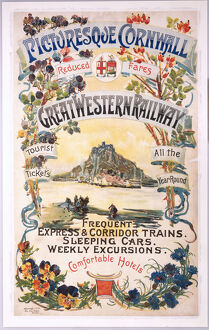'Picturesque Cornwall', GWR poster, 1897.