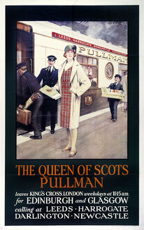 The Queen of Scots Pullman', Pullman Company poster, 1923-1947.