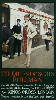 The Queen of Scots Pullman', Pullman Company poster, 1930s.