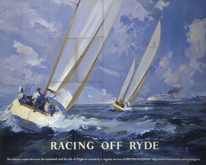 'Racing off Ryde', BR poster, 1950s