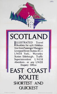 'Scotland - East Coast Route', LNER poster, 1926.