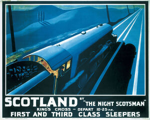 'Scotland by the Night Scotsman', LNER poster, 1932