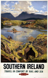 'Southern Ireland', BR (WR) poster, 1948-1965.