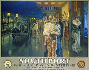 'Southport, For a Holiday In Wintertime', LMS poster, 1925
