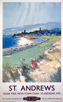 'St Andrews', BR (ScR) poster, c 1950s