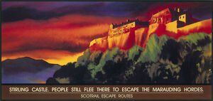 ''Stirling Castle' Scotrail poster, 1996.'