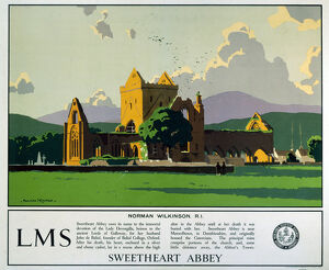 'Sweetheart Abbey', LMS poster, 1923-1947.