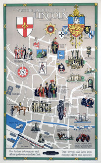 'Visit the Ancient City of Lincoln', BR (ER) poster, 1948-1965.
