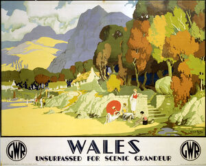 'Wales - Unsurpassed for Scenic Grandeur', GWR poster, c 1930s