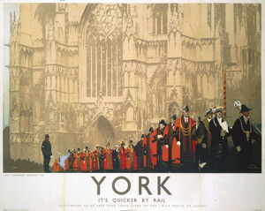 'York - Local Government Centenary', LNER poster, 1935